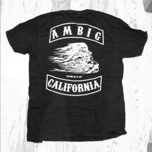 T-Shirt Mens XL Ambig Black